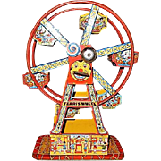 J Chein Wind-Up Hercules Toy Ferris Wheel #172