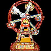 J Chein Wind-Up Hercules Toy Ferris Wheel #172