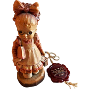 "Anri of Italy ""Off To School Girl"" Limited Carving 569/4000 by Sarah Kay"