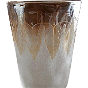 "New England Glass Company ""Pomona"" First Grind Acanthus Leaf Pattern Tumbler"