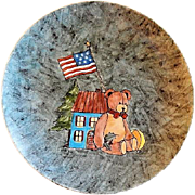 "Home Studio Hand Painted ""Teddy Bear Christmas"" Plate"