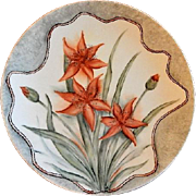 "Home Studio Hand Painted ""Day Lily Blossoms"" Plate"