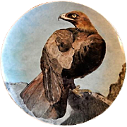 "Home Studio Hand Painted ""Golden Eagle"" Plate"