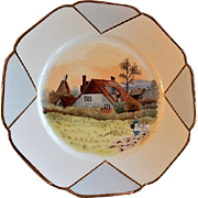 Charles Haviland Hand Painted Cabinet Plate w/English Country Cottage Motif - 1 of 6