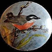 "Home Studio Hand Painted ""Spring Time Robin"" Dresser/Trinket Box"