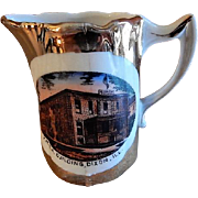 """Early 1900's Souvenir """"Y.M.C.A. Building Dixon ILL"""" Miniature Pitcher"""
