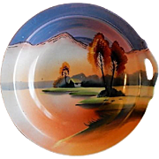Noritake/Chikaramachi Porcelain - Hand Painted Bowl - Country Lakeside Motif