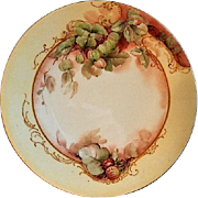 Jean Pouyat (JPL) Limoges Hand Painted Cabinet Plate w/Gooseberry Motif - 1 of 6 Plates