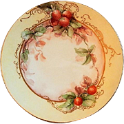 Jean Pouyat (JPL) Limoges Hand Painted Cabinet Plate w/Strawberry Motif - 3 of 6 Plates