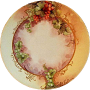 Jean Pouyat (JPL) Limoges Hand Painted Cabinet Plate w/Currant Motif - 6 of 6 Plates