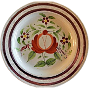 "Early 19th Century Soft Paste ""Queen's Ware"" Dinner Plate"