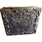 """The Union and Constitution"" - 1/6 Plate Size Thermoplastic Union Case w/Daguerreotype Image of Lewis W Mogle (Served in Civil War)"