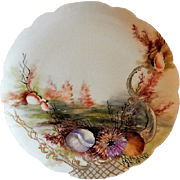 Charles Haviland & Co. Hand Painted Cabinet Plate w/Seascape Motif - #1 of 8 Plates