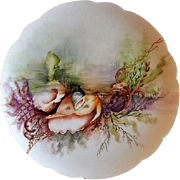 Charles Haviland & Co. Hand Painted Cabinet Plate w/Seascape Motif - #4 of 8 Plates