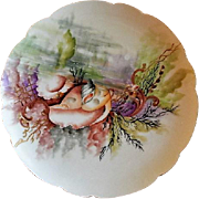 Charles Haviland & Co. Hand Painted Cabinet Plate w/Seascape Motif - #5 of 8 Plates