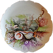 Charles Haviland & Co. Hand Painted Cabinet Plate w/Seascape Motif - #8 of 8 Plates