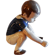 "Bing & Grondahl Porcelain of Young Boy ""Dickie"" Figurine #1636"