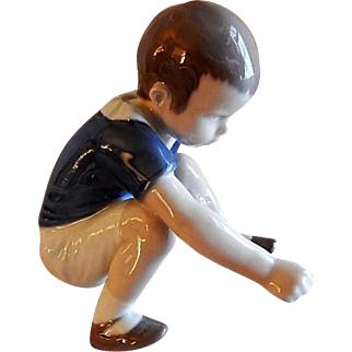 """Bing & Grondahl Porcelain of Young Boy """"Dickie"""" Figurine #1636"""