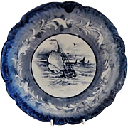 Charles Haviland & Co. Hand Painted Cabinet Plate w/Sailing Regatta Motif