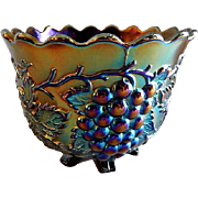"Dugan/Diamond Purple/Amethyst Carnival ""Grape Delight"" Footed Nut Bowl"