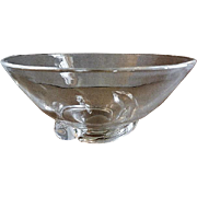 "Steuben Crystal Glass ""Spiral"" Bowl - Designed by Donald Pollard in 1954"