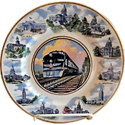 "Syracuse China - Missouri Pacific Railroad ""State Capitols"" Pattern Service Plate - Route of the Eagles"