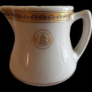 "Shenango China - Baltimore & Ohio Railroad ""Capitol"" Pattern Cream Pitcher"