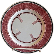 "Syracuse China - Atchison, Topeka & Santa Fe Railroad ""Mimbreno"" Pattern Dinner Plate"