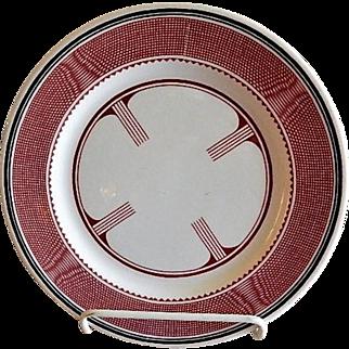 "Syracuse China - Atchison, Topeka & Santa Fe Railroad ""Mimbreno"" Pattern Dinner Plate"