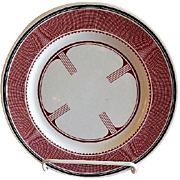 "Sterling China - Atchison, Topeka & Santa Fe Railroad ""Mimbreno"" Pattern Dinner Plate - Replica of Original"