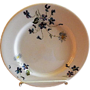 "Syracuse China - Chicago, Burlington & Quincy Railroad ""Violets & Daisies"" Pattern Dinner Plate"