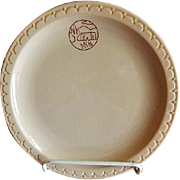 "Syracuse China - Atchison, Topeka & Santa Fe Railroad ""Adobe"" Pattern Dinner Plate"