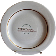 "Sterling China - Union Pacific Railroad ""Winged Streamliner"" Pattern Dinner Plate"