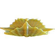 "Fostoria Yellow Opalescent ""Heirloom"" Pattern 2720/126 Basket"