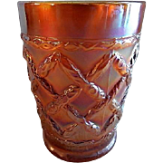 "Dugan/Diamond Marigold Carnival ""Grapevine Lattice"" Tumbler"