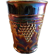 "Northwood Amethyst Carnival ""Grape & Cable w/Thumbprint"" Pattern Tumbler"