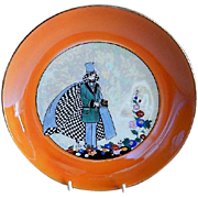 Noritake Japan Hand Painted Deco Motif Plate w/Gentleman in Formal Attire