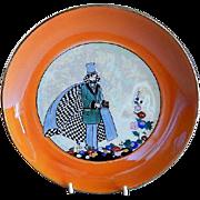 Noritake Japan Hand Painted Deco Motif Plate w/Gentleman in Formal Attire