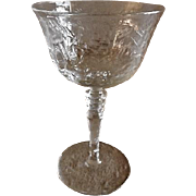 Pair of Libbey/Rock Sharpe Crystal Tall Sherbet/Champagne - Stem #2010, Cut #16