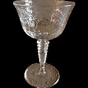 Pair of Libbey/Rock Sharpe Crystal Tall Sherbet/Champagne - Stem #2010, Cut #16