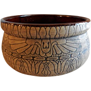 "Western Stoneware ""Egyptian"" Line Burntwood Design Bowl"