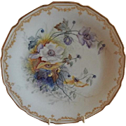 Bawo & Dotter Elite Works Hand Painted Cabinet Plate w/Cluster of Anemone Blossoms - #4 of Set of 4 Plates