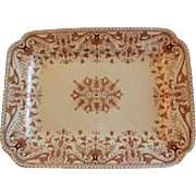 "T & R Boote Ironstone Brown Transferware Large Size Platter ""Tournay"" Pattern"