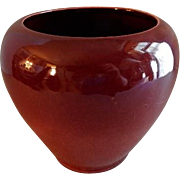 Broadmoor Art Pottery Oxblood Glaze Vase - Incised P. H. Genter