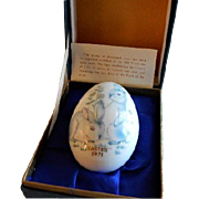 1971 First Edition Noritake Easter Egg w/Bunnies