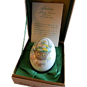 1974 Fourth Edition Noritake Easter Egg w/Easter Basket & Easter Eggs