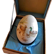 1975 Fifth Edition Noritake Easter Egg w/Family of Ducks