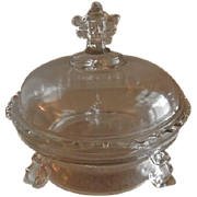 "EAPG - Hobbs Brockunier & Co. ""Viking"" Pattern Covered Butter Dish"