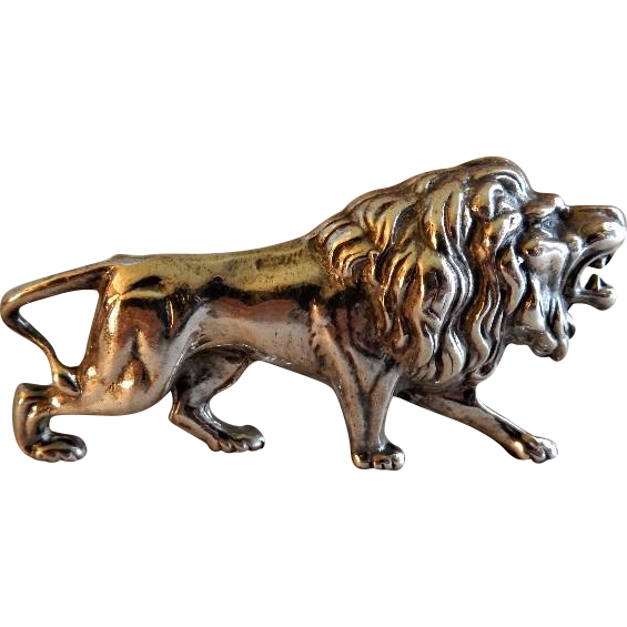Alexander Korda Figural Quot Roaring Lion Quot Brooch Jungle Book