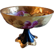 """Pickard Studio Hand Painted """"Coufall Grapes & Etched Border"""" Punch Cup"""